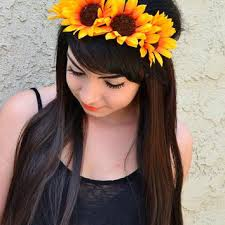 sunflower headband best sunflower crown products on wanelo