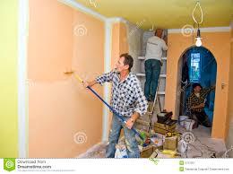 Paint Room Renovation Team Painting Room Stock Image Image 5757551