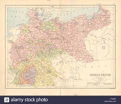 German States Map by Germany U0027german Empire U0027 Prussia States Railways Bartholomew