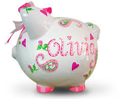 monogrammed piggy bank personalized piggy banks