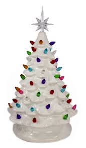 ceramic christmas tree with lights affordable white ceramic