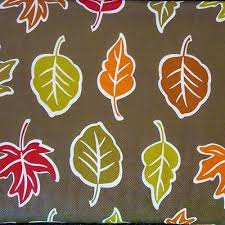 fall leaves vinyl tablecloth flannel back all sizes thanksgiving