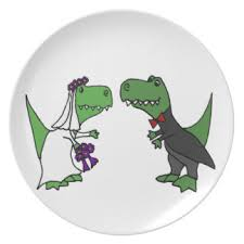 and groom plates trex plates zazzle