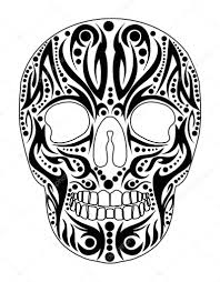 tattoo tribal skull vector art u2014 stock vector a1vector 33941035