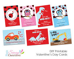 valentines cards for kids sassy photo creations diy printable s day cards