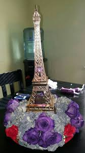 centerpieces for quinceaneras eiffel tower centerpiece for a quinceanera yelp