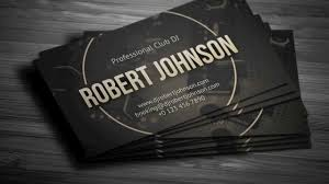 professional dj business card template youtube
