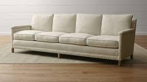 seat sofa trevor oatmeal 4 seater sofa crate and barrel