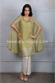 latest pakistani cape style dresses 2017 2018 top designer collection