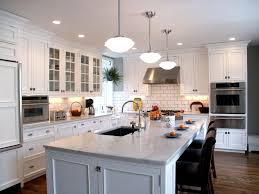 Backsplashes For White Kitchens Contemporary White Backsplash Ideas With White Cabinets And Dark
