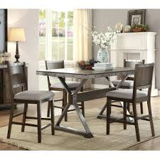 dining table rustic counter height dining table sets rustic wood