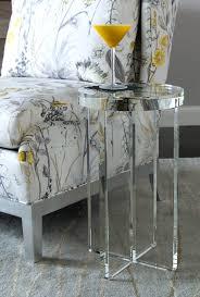 crystal martini side table