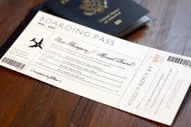 carlton invitations boarding pass wedding invitation destination wedding