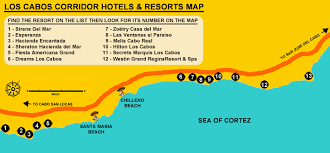 san jose cabo map hotels los cabos tourist corridor hotels and resorts finding the best