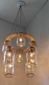 double decker mason jar chandelier upcycled hanging mason jar