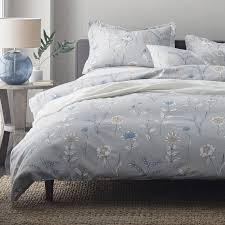 ashley floral 6 2 oz flannel duvet cover the company store