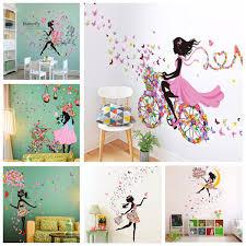 best products from children lazaara flower girl wall sticker