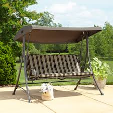 3 Seater Garden Swing Chair Garden Oasis 3 Seat Swing With Canopy