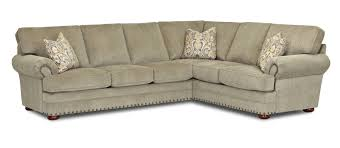 Klaussner Furniture Quality Traditional 2 Piece Sectional Sofa By Klaussner Wolf And