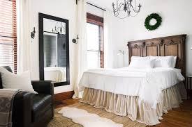 Bed Frame Skirt Diy No Sew Drop Cloth Bed Skirt Hometalk