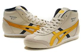mexico 66 mid runner shoes yellow black beige as 00012