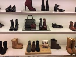 s boots store boots and ugg display in kurt geiger s manchester boutique store