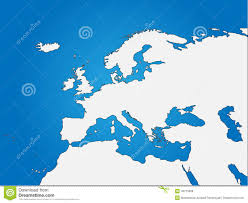 Map Of Europe And North Africa by Africa Blind Map Royalty Free Stock Image Image 6049156
