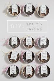 Wedding Favors For Bridal by Learn How To Make These Tea Wedding Favors Tea Tins