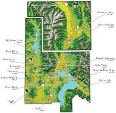 Water Country Map Maps Of Sandpoint And Surrounding Areas