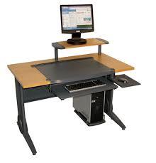 Gaming Workstation Desk by Stylish Ergonomic Computer Desk With Ergonomic Gaming Computer