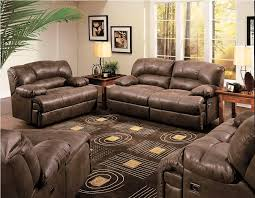 Reclining Loveseat Wall Hugger Brown Leather Double Recliner Loveseat House Decorations And