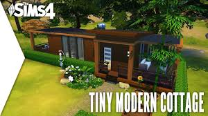Modern Cottage The Sims 4 Speed Build 354 Tiny Modern Cottage Youtube