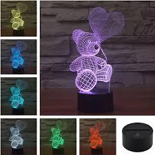 famille bureau aucd acrylique coloré ballon usb en peluche panda nuit lumière