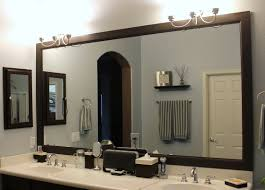 large framed bathroom mirrors create magical illusion with large