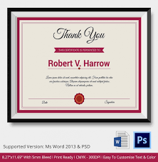 thank you certificates psd u0026 word designs design trends
