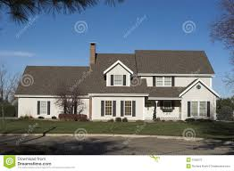 two story colonial home stock images image 2902974