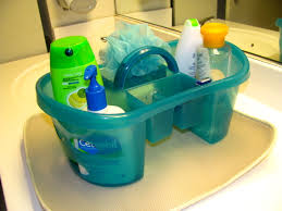 bathroom design college plastic shower caddy in green for