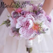 wedding flowers peonies 2017 artificial flowers bridal bouquet purple pink hydrangea