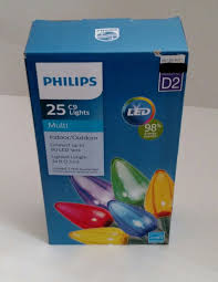 philips pine cone string lights upc 741895246721 philips 25ct multi led smooth c9 string christmas