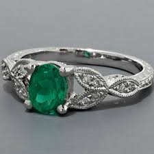 vintage emerald engagement rings fay cullen archives rings antique emerald engagement ring
