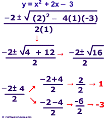 the quadratic formula to solve quadratic equations step by step