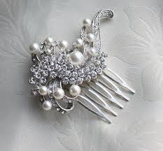 hair brooch bridal pearls hair brooch for wedding vintage