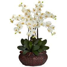 artificial flower arrangements charlton home large phalaenopsis silk flower arrangement reviews