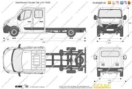 opel movano 2015 the blueprints com vector drawing opel movano double cab l3h1 rwd