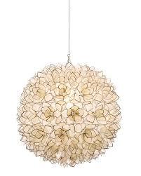 Gold Capiz Chandelier Neiman Marcus Capiz Shell 1 Light Pendant