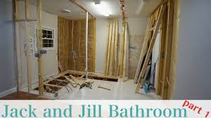 Jack And Jill Bathroom Designs by Jack And Jill Bathroom Remodel Part 1 Youtube