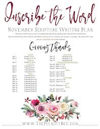 inscribe the word november scripture writing plan the