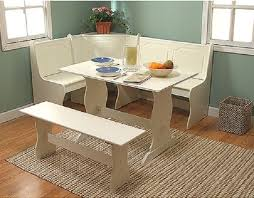 dining breakfast nook 3 pc set corner table booth bench antique