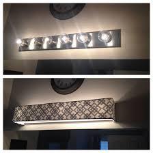 Bathroom Vanity Light Covers Custom L Shades Fabric Light Covers Bathroom Vanity Throughout