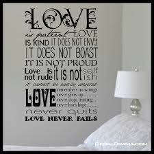 scripture love is patient love is kind inspired by 1 scripture love is patient love is kind inspired by 1 corinthians 13 4 8 new testament verse vinyl wall decal on storenvy